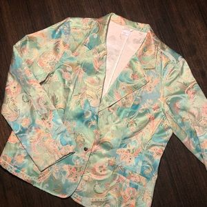 ~NWOT~ 50's Style Floral Blazer